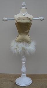 Paspop bijoux groot model goud/beige  per stuk