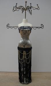 Bijoux Mannequin zwart/goud  per stuk