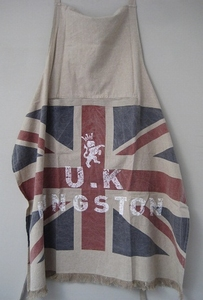 Schort vintage union jack UK linnen wash  per stuk