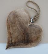 Hart hout naturel groot per stuk