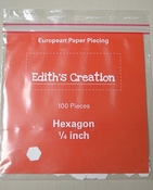 Hexagon papers 1/4 inches